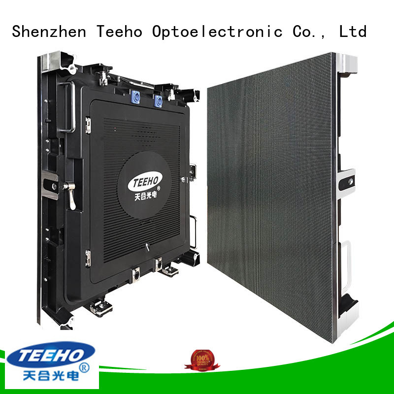 Teeho fixed led video wall bulk production for downtown shopping mall