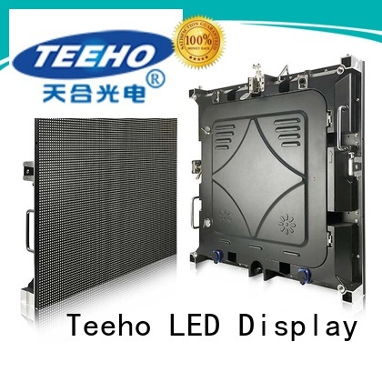 Teeho fixed led screen overseas market for conference meeting
