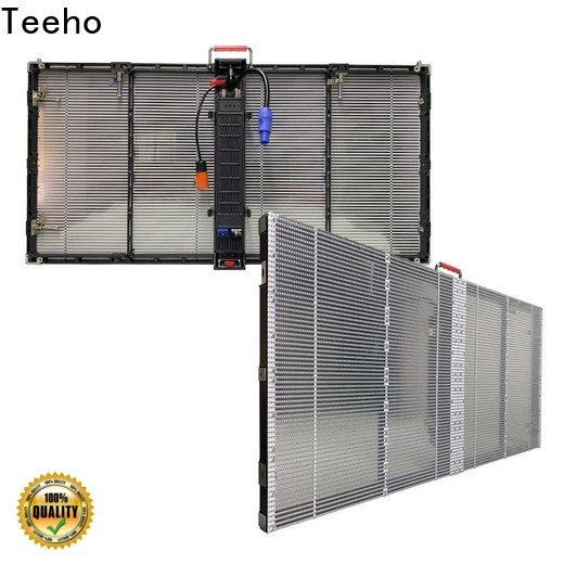 Teeho transparent led screen by bulk for airport