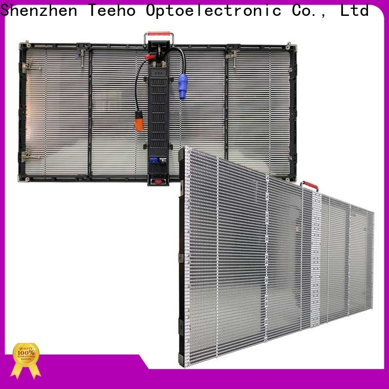 Teeho transparent led screen factory price for luxury store