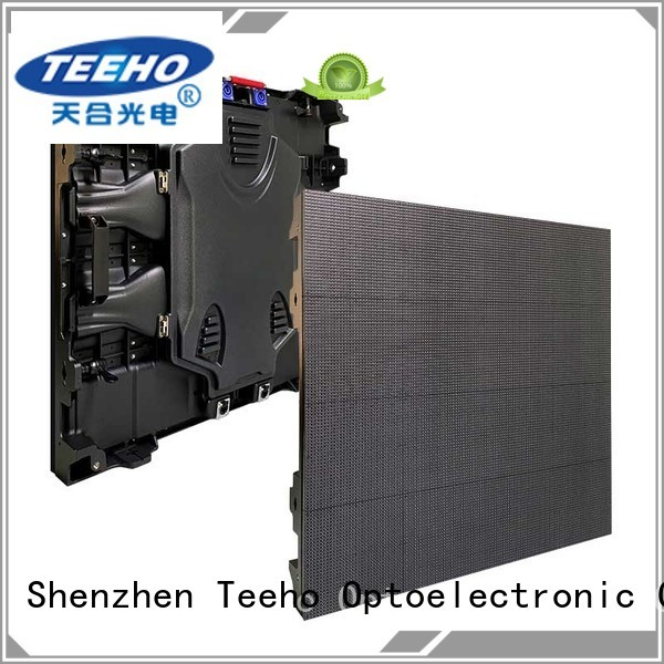 Teeho advanced technology giant led screen bulk production for downtown shopping mall