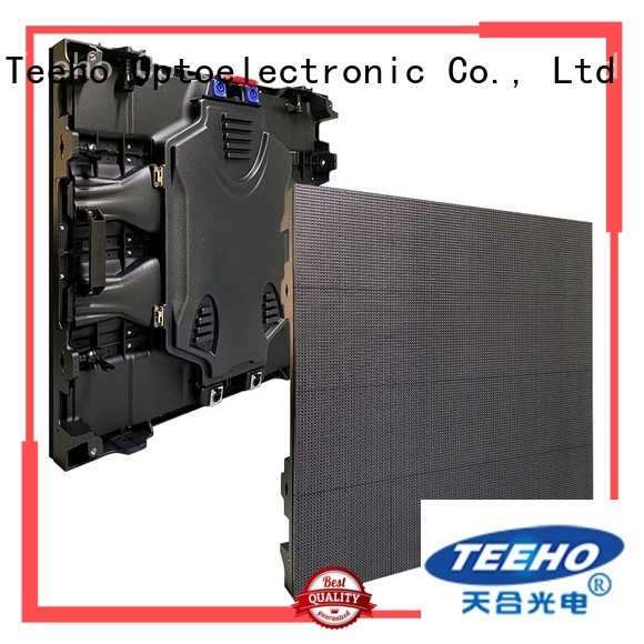 Teeho long lifespan fixed led video wall factory price for leisure square