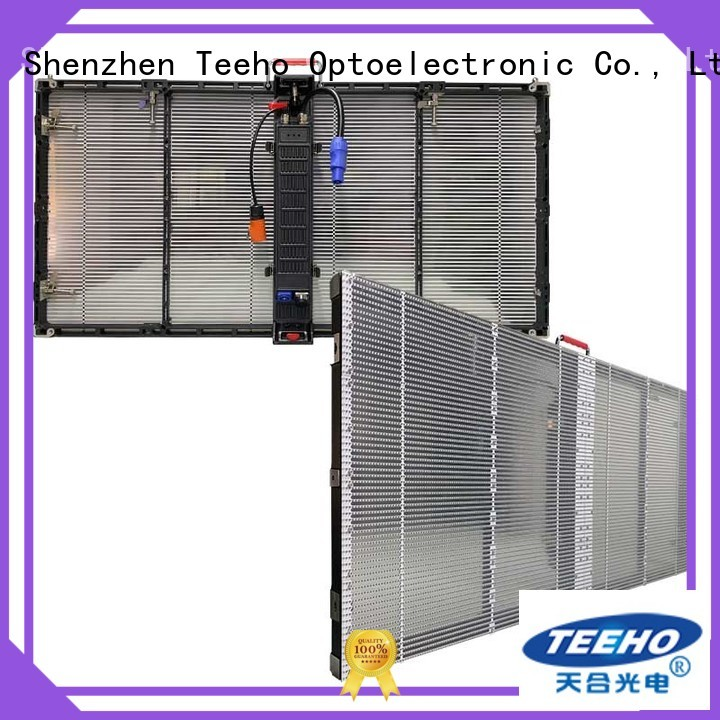 Teeho transparent led screen at discount for luxury store
