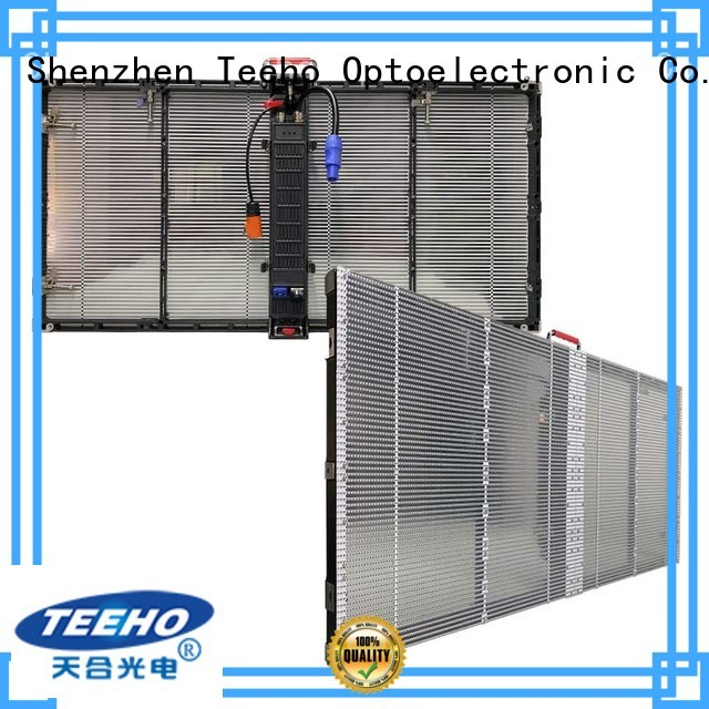 fast lock transparent led screen factory price for airport