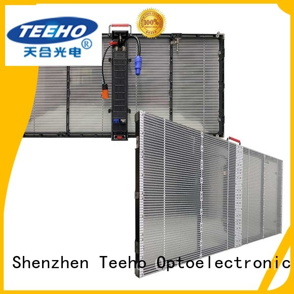 Teeho stable structure Transparent LED Display overseas market for bank