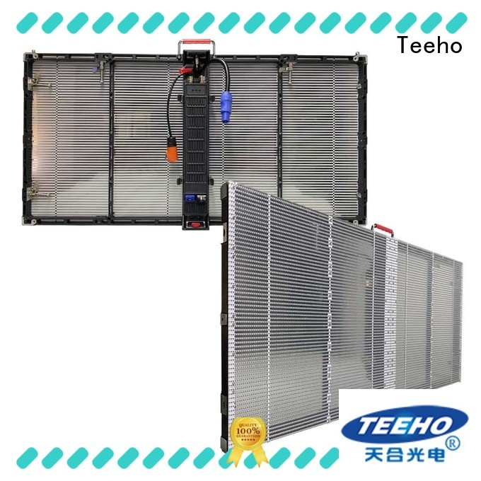 Teeho strong adaptability transparent led screen factory price for shopping mall