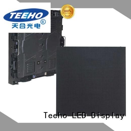 Teeho advanced technology fixed led screen marketing for company reception room