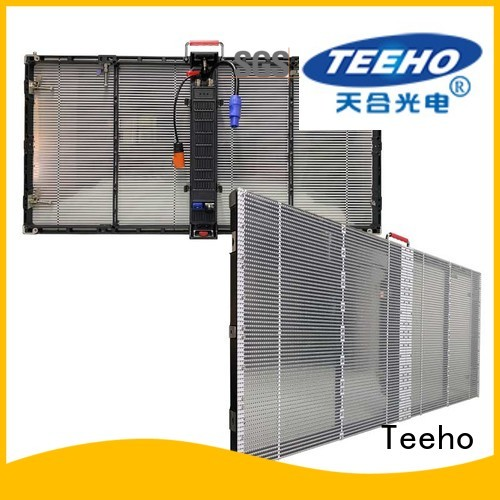 Teeho transparent led screen bulk production for luxury store