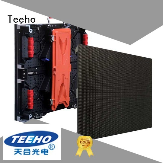 Teeho quickly installed rental LED screen overseas market for conference
